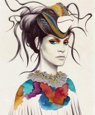 Moda ressamından yaratıcı çizimler