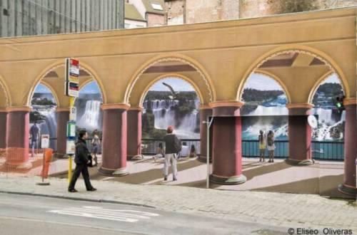 Eliso oliver tarafından yapılan muhteşem duvar çizimleri