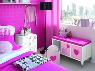 Pembe Barbie Stili Otel Odas. lgin  Otel Odalar
