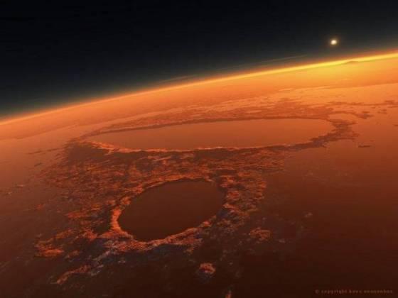 Mars kızıl gezegen dijital fotoğraf bilim fotoğraf ilginç nasa