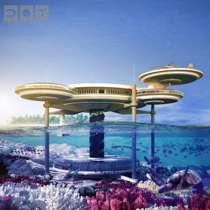 Dubai'de ilginç sualtı oteli