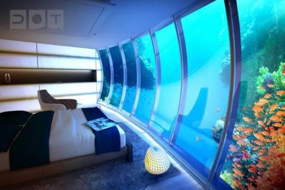 Dubai de ilginç sualtı oteli