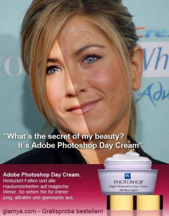 Ünlülerin güzellik sırrı photoshop