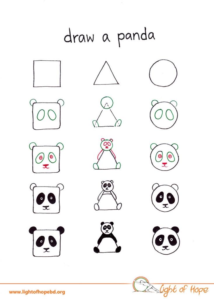 Basit Geometrik şekiller Kullanarak Hayvan Resimleri Nasıl çizilir